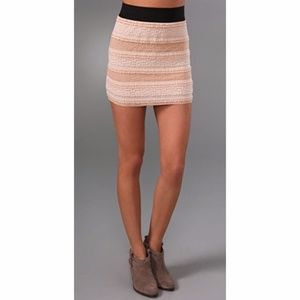 Free People Petticoat Lace Skirt Ivory